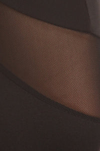 High quality mesh insert legging
