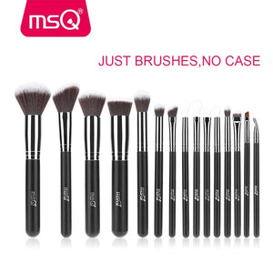 CHOCO BEAUTY  Pro 15pcs Makeup Brushes Set Powder Foundation Eyeshadow Make Up Brushes