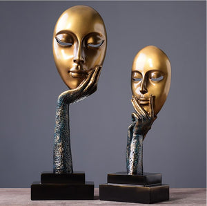 European modern creative thinkers figurines for home decorations