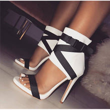 Women Summer Stilettos Sandals High Heeled Female Ankle Wrap