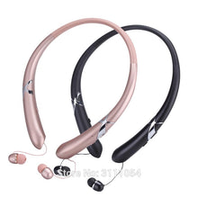 Retractable Bluetooth Headset Wireless Earphone For Mobile With Microphone Sport Stereo Earbuds For LG Samsung iPhone 7 8 Plus