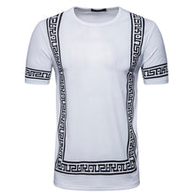 Men Tee Slim Fit O Neck Print Short Sleeve Muscle Casual  Shirts