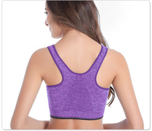 Sport  Push Up For Cup A-D Front Zipper  Quick Dry Sport Top Bra.