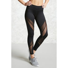 Women Mesh sport Leggings Fitness Yoga Set Pant Elastic