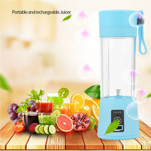 Portable Electric Juicer 380mL Fruit Extractor for Fruits and Vegetables Juicer Machiner, Easy to clean