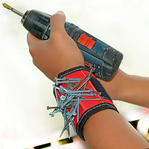 Magnetic Wristband Powerful Magnets Magnet Wristbands for Holding Tools,Screws,Nails,Bolts, Drill Bits and Small tools, Best Tool Gift for DIY Handyman, Men, Women
