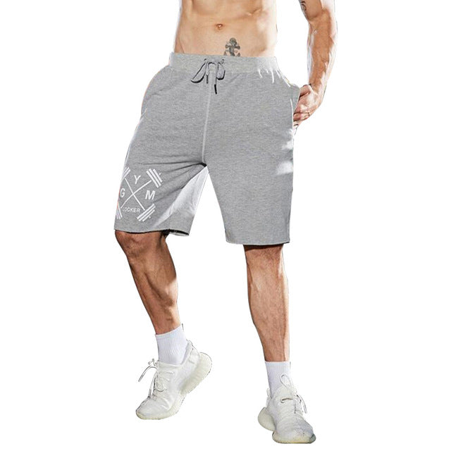 MUSCULARITY new summer shorts mens gyms Fitness and bodybuilding Cotton jogger sweatpants men Personality printing shorts