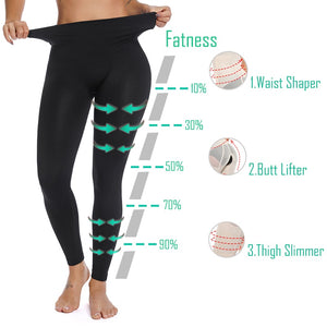 BODY BY CHOCO  Black Nylon High Waist Female Workout Leggings  Sport Push Up Slimming Control