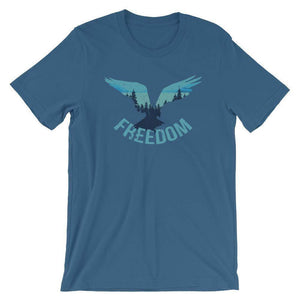 4th of July Patriotic Eagle Freedom Wilderness T-Shirt T-Shirts - Giving Gecko Giving Back To Animal Rescue Charities