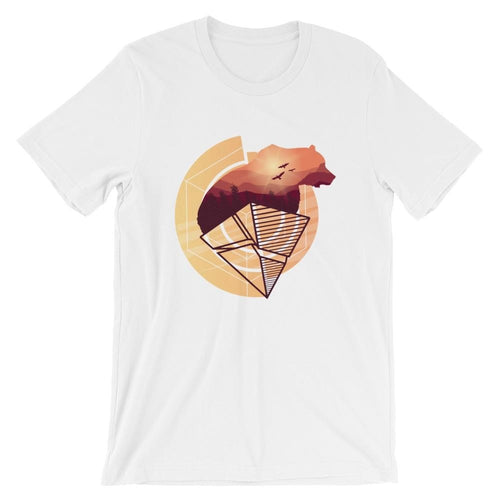 Abstract Artistic Wild Bear T-Shirts - Giving Gecko Giving Back To Animal Rescue Charities