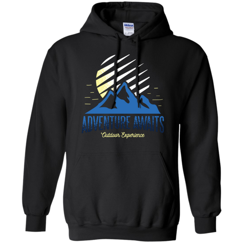 Adventure Awaits Pullover Hoodie Hoodies - Giving Gecko Giving Back To Animal Rescue Charities