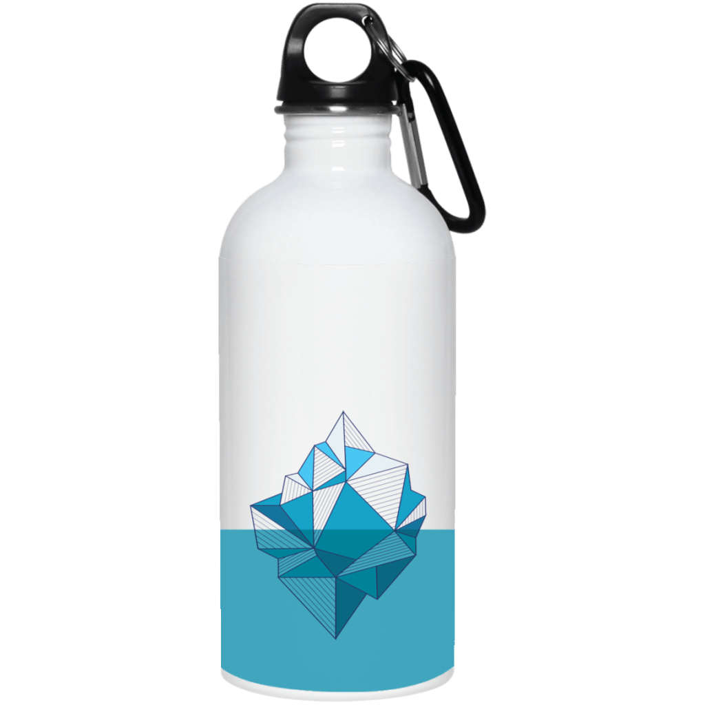 Arctic Iceberg 20 oz. Stainless Steel Water Bottle - Giving Gecko Giving Back To Animal Rescue Charities