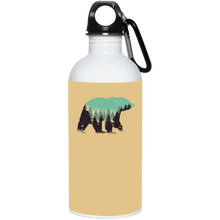 Bear Forest Reusable Water Bottle Water Bottles - Giving Gecko Giving Back To Animal Rescue Charities