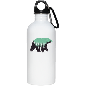 Bear Forest Reusable Water Bottle - Giving Gecko Giving Back To Animal Rescue Charities