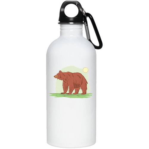 Bear In Meadow Reusable Water Bottle Water Bottles - Giving Gecko Giving Back To Animal Rescue Charities