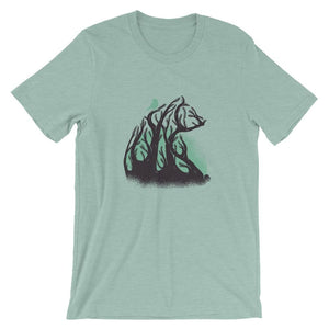 Beautiful Tree Bear With Bird T-Shirt T-Shirts - Giving Gecko Giving Back To Animal Rescue Charities