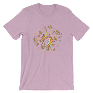 Beautiful Unicorn Floral Flower T-Shirt T-Shirts - Giving Gecko Giving Back To Animal Rescue Charities