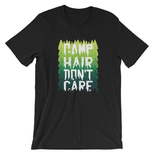 Camp Hair Don't Care T-Shirt T-Shirts - Giving Gecko Giving Back To Animal Rescue Charities