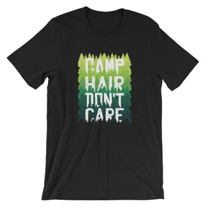 Camp Hair Don't Care T-Shirt - Giving Gecko Giving Back To Animal Rescue Charities
