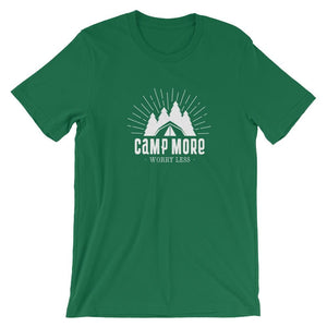 Camp More Worry Less T-Shirt T-Shirts - Giving Gecko Giving Back To Animal Rescue Charities