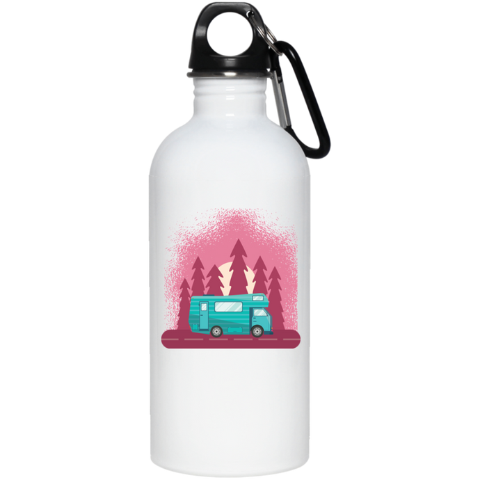 Camping Travel Van Reusable Water Bottle Water Bottles - Giving Gecko Giving Back To Animal Rescue Charities