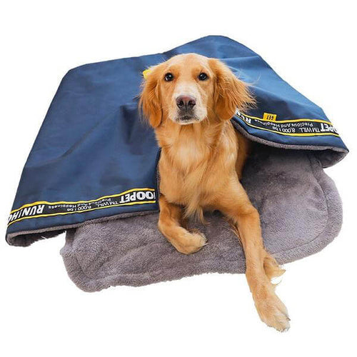 Dog Sleeping Bag Bed (Small to XL Breeds) - Giving Gecko Giving Back To Animal Rescue Charities