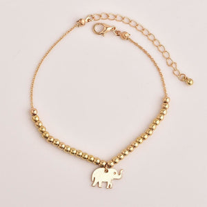 Elephant and Stars Boho Anklet - Giving Gecko Giving Back To Animal Rescue Charities