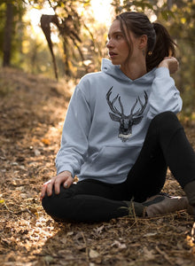 Enjoy Your Wild Nature Tribal Deer Pullover Hoodies - Giving Gecko Giving Back To Animal Rescue Charities