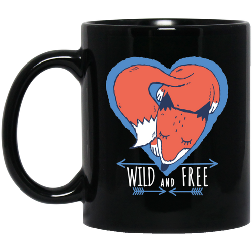 Fox Wild And Free Mug Mugs - Giving Gecko Giving Back To Animal Rescue Charities