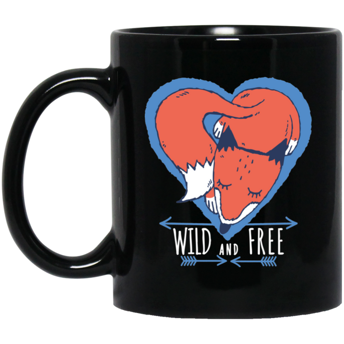 Fox Wild And Free Mug - Giving Gecko Giving Back To Animal Rescue Charities