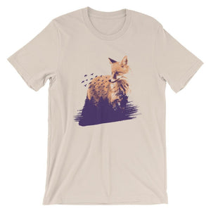 Fox With Flying Birds T-Shirt T-Shirts - Giving Gecko Giving Back To Animal Rescue Charities