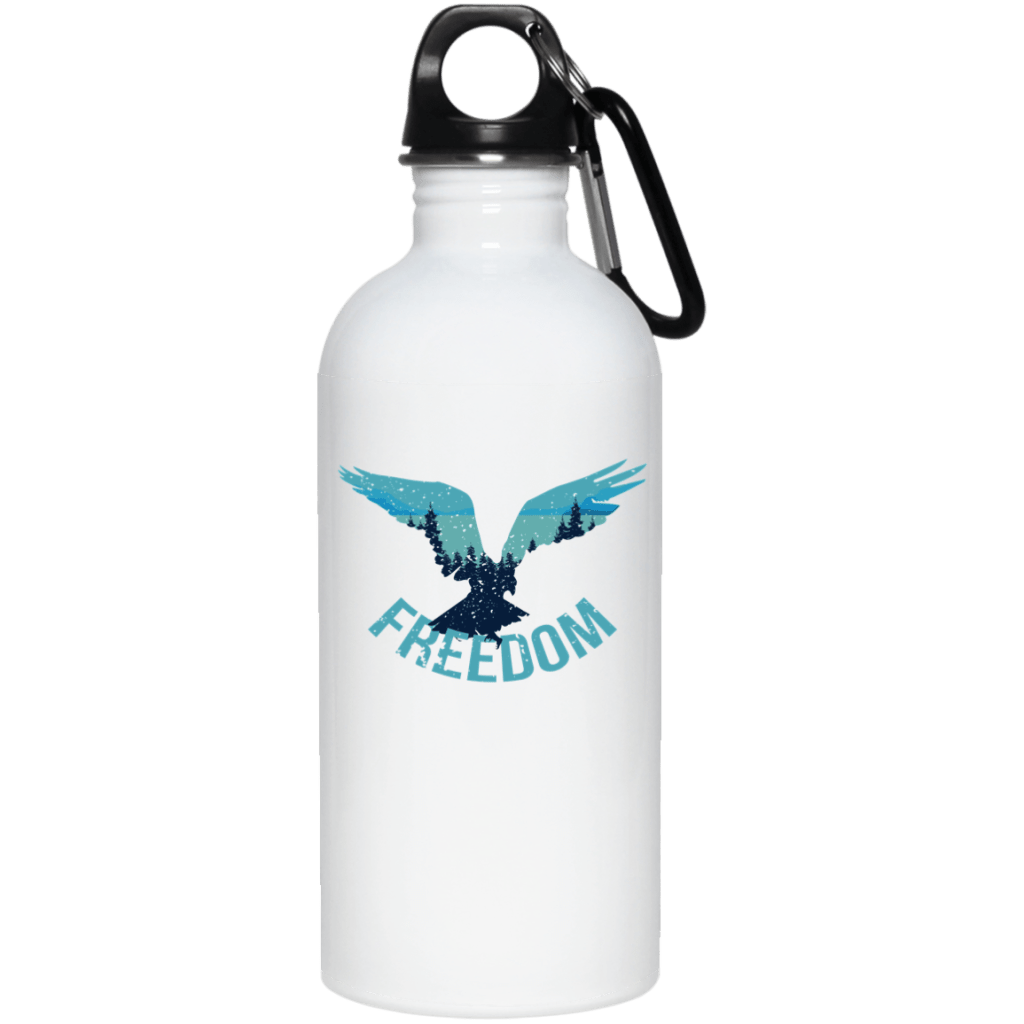 Freedom Flying Eagle Wilderness 20 oz. Stainless Steel Water Bottle - Giving Gecko Giving Back To Animal Rescue Charities