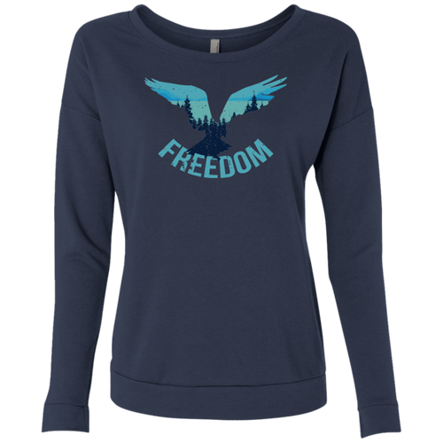 Freedom Flying Eagle Wilderness Long Sleeve Sweatshirts - Giving Gecko Giving Back To Animal Rescue Charities