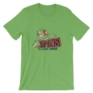 Funny I'm A Vegan Zombie Grains Halloween T-Shirts - Giving Gecko Giving Back To Animal Rescue Charities
