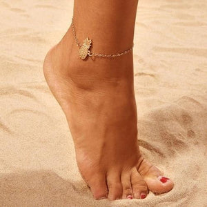 Golden Pineapple Anklet - Giving Gecko Giving Back To Animal Rescue Charities