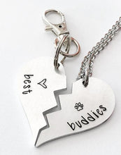 Hand Stamped Dog ID Tag & Owner Necklace - Giving Gecko Giving Back To Animal Rescue Charities