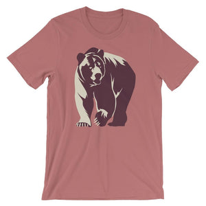 Large Wild Grizzly Bear T-Shirt - Giving Gecko Giving Back To Animal Rescue Charities