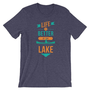 Life Is Better At The Lake T-Shirt - Giving Gecko Giving Back To Animal Rescue Charities