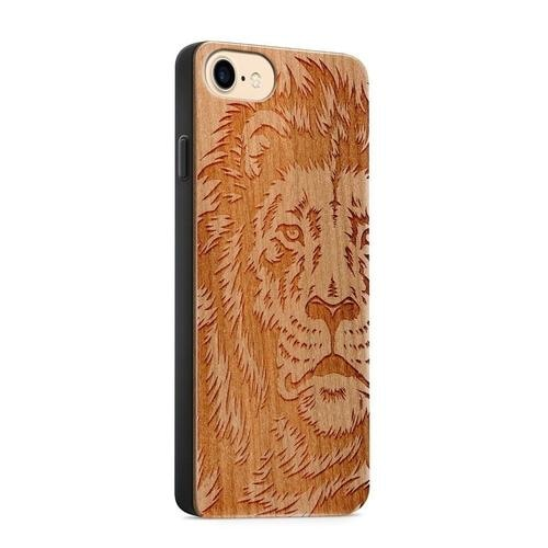 Lion iPhone Real Wood Case Phone Cases - Giving Gecko Giving Back To Animal Rescue Charities