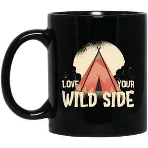 Love Your Wild Side 11 oz. Black Mug - Giving Gecko Giving Back To Animal Rescue Charities