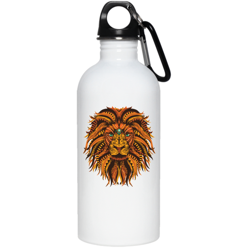 Save Lions Big Cat Design 20 oz. Stainless Steel Water Bottle - Giving Gecko Giving Back To Animal Rescue Charities