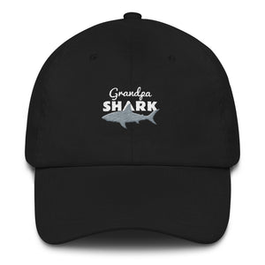Grandpa Shark Embroidered Hat Hats - Giving Gecko Giving Back To Animal Rescue Charities