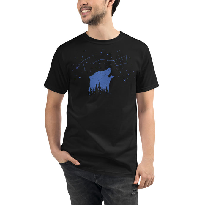 Bear Constellation Organic Eco T-Shirt - Giving Gecko Giving Back To Animal Rescue Charities