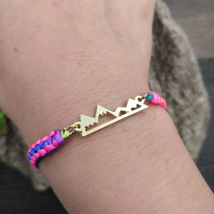 Mountains Colored Rope Bracelet (2 Colors) - Giving Gecko Giving Back To Animal Rescue Charities