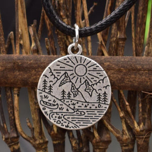 River Canoe Adventurer Necklace (Wax Rope) Necklaces - Giving Gecko Giving Back To Animal Rescue Charities
