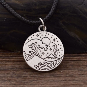 Ocean Surf Necklace (Wax Rope) Necklaces - Giving Gecko Giving Back To Animal Rescue Charities
