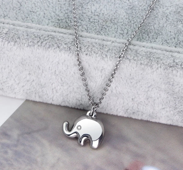 Gifts For Mom - Elephants Mother and Baby Silver Womens Necklaces