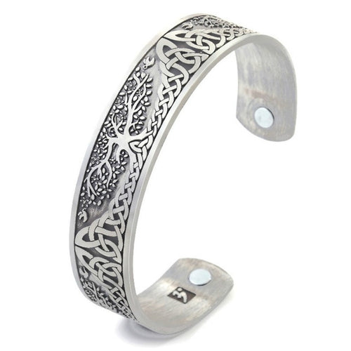 Women's Bracelets - Life Tree Nature Magnetic Silver Antique Bracelets