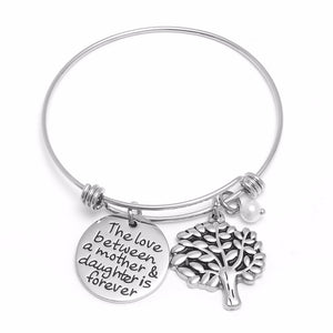 Gifts For Mom - Mother Daughter Vintage Tree of Life Charm Bracelet
