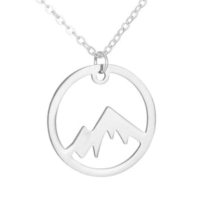 Courage Mountain Stainless Steel Necklace